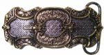 24ct Gold & Silver Plated Celtic Design Belt Buckle with display stand. Code GB5